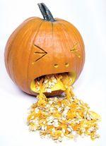 Puking Pumpkin by Tom Nardone at Extreme Pumpkins