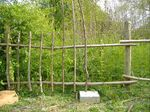 Rustic fence being made, courtesy of www.allotmentforestry.co.uk
