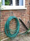 The Wickes storage hook in use as a hose tidy. Copyright Helen Gazeley