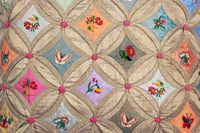 Cathedral window patchwork in the Garden Design  from Joanna Smith-Ryland