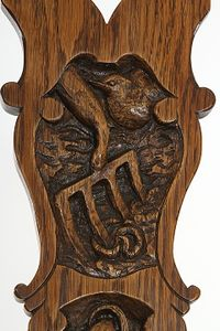 Garden-themed carving for a special chair from Nigel Coope.