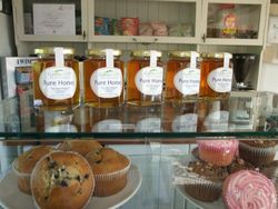 Gavin Jones honey on sale in The Plantation cafe