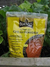 Extra large bag of chilli powder for sprinkling on beds