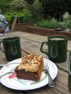 Coffee and cake at Rose Cottage
