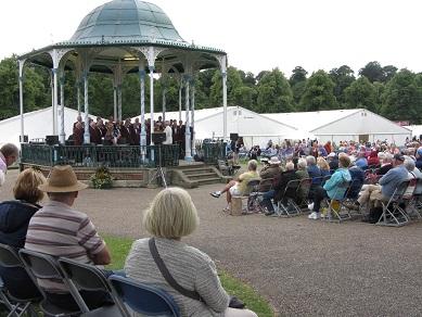 The Bandstand, Shrewsbury Flower Show, 2013