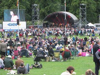 Bellowhead concert, Shrewsbury Flower Show, 2013