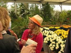 Joanna Lumley, M&S stand, Chelsea Flower Show 2013