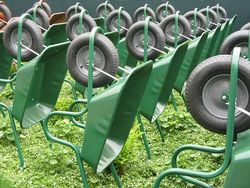 Wheelbarrows at Chelsea Flower Show 2013