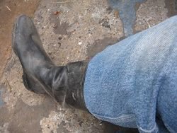 Well developed calves are the enemy of standard wellies