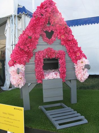 Nikki Tibbles henhouse at Hampton Court Flower Show 2013