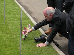 Photographing gnomes at Chelsea Flower Show 2013
