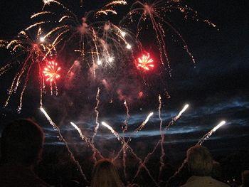 Fireworks display, Shrewsbury Flower Show, 2013