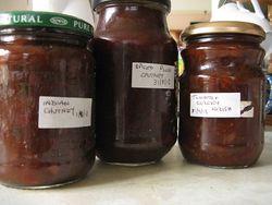 Jars of pickle
