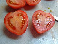 Heart shaped tomatoes by Andrea_R. Flickr