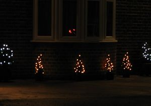 Repeating motifs in Christmas garden