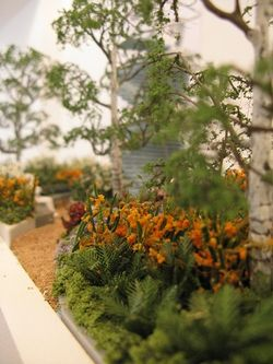 Detail of Stage, by Jo Thompson, Miniature Garden Show, London, March 2014