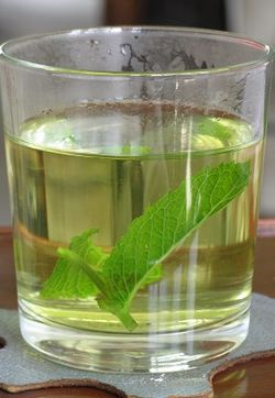 A glass of mint tea