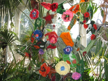 Artwork inspired by nature in Palm House, Sefton Park, Liverpool