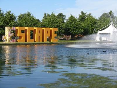 The Escape Zone, Orla Kiely E, Hampton Court Flower Show 2014