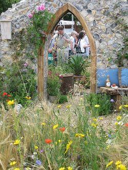 The Flintknapper's Garden, Hampton Court Flower Show 2014