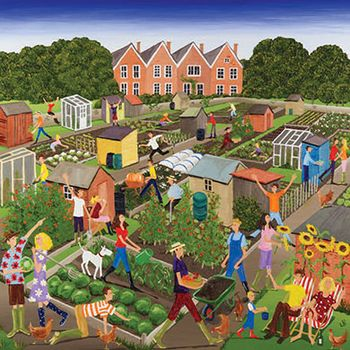 Louise Braithwaite, Allotments greetings card