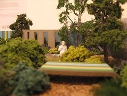 Coast, by Jim Fogarty, side view. Miniature Garden Show.