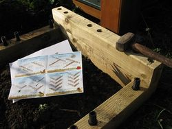 Partially built raised bed from Woodblocx