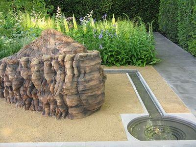 Ursula von Rydingsvard sculpture, Luciano Giubbelei Best in Show Garden, Chelsea 2014