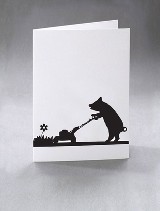 Mowing-pig-print-Ham Cards