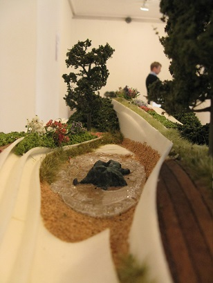 A letter posted 1 million years ago, by Jihai Hwang, Miniature Garden Show, London, 2014