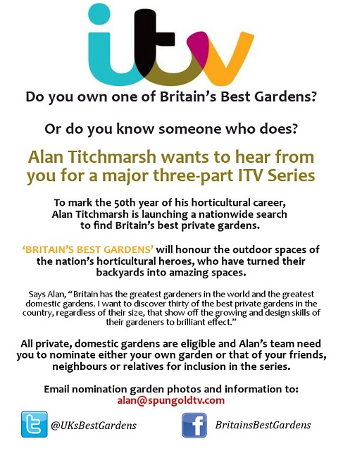 Britain's Best Gardens call for contestants