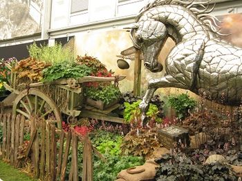 Heucheraholics take on War Horse, Chelsea Flower Show, 2014