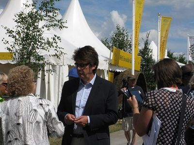 Mike Read, Hampton Court Flower Show, 2014