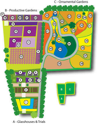 Map Of Beechgrove Gardens