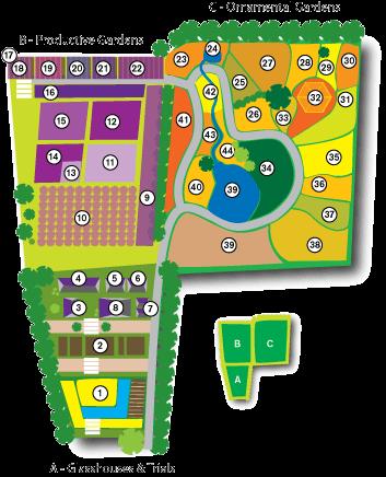 Map of Beechgrove Gardens