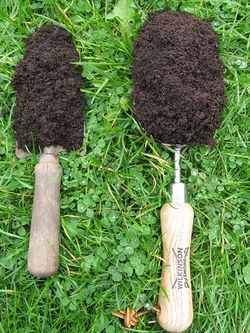 Compost scoop versus trowel