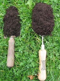 Compost scoop versus trowel