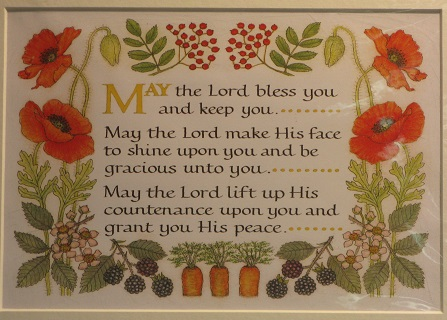 Rosemary Grossman calligraphy May the Lord
