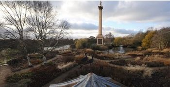 Artist's impression of Nelson's Column at Pensthorpe Natural Park