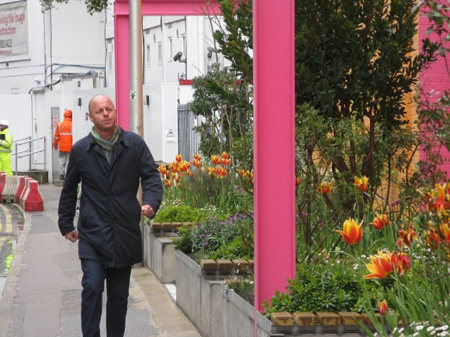 Joe Swift goes for a quick walk to check his handiwork
