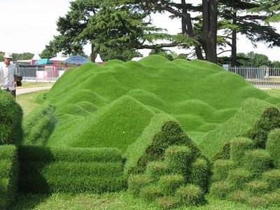Rolawn's Freestyle Turf Sculpture by Tony Smith. RHS Hampton Court 2015