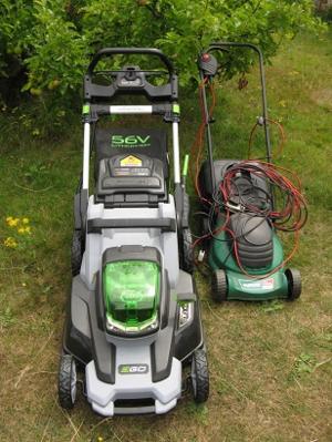 EGO cordless mower, Qualcast 32 cm corded mower