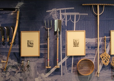 Traditional tools, with accompanying Stanley Anderson etchings