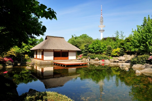 Japanese Tea House, Planten un Blomen, Hamburg, Germany