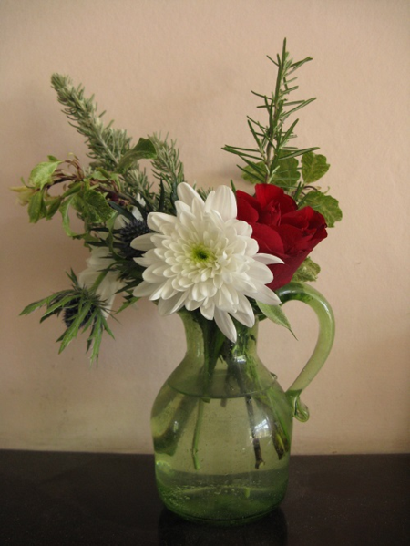Lonely Bouquet in vase