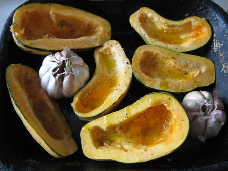Honey Boat Squash, ready to roast