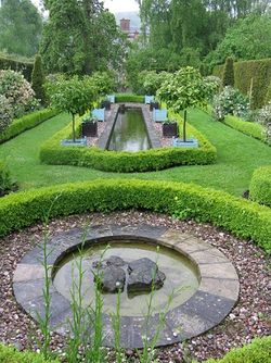 Formal pond at Morville Dower House