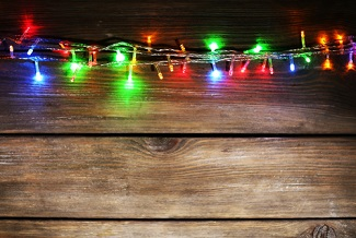 Shutterstock_222652627. String of coloured lights.