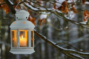 Shutterstock_172949777. Lantern with candle