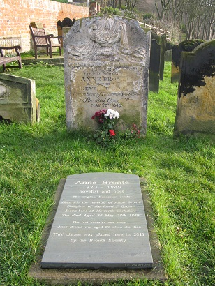 Anne Bronte's grave, Scarborough